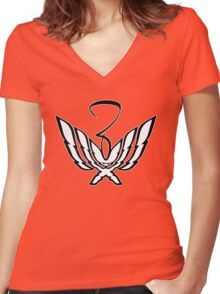 FireFigure with Z Women's Fitted V-Neck T-Shirt