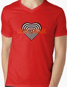 Love Heart Kiss Music Lyrics Rock Song Mens V-Neck T-Shirt