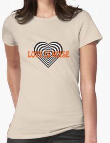 Love Heart Kiss Music Lyrics Rock Song Womens Fitted T-Shirt