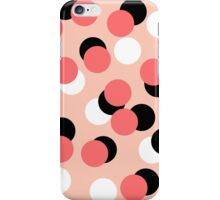 Cerla - Modern pattern design bold coral black white dots inky spots pattern for gifts trendy iPhone Case/Skin