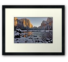 Yosemite Valley Winter 2009 Framed Print