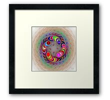 'Light Flame Abstract 300' Framed Print