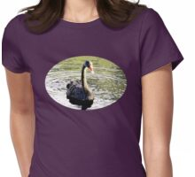 Black Swan on Lake Womens Fitted T-Shirt