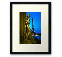 Gilded Statues of Palais de Chaillot - Paris, France Framed Print