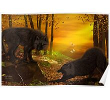 Wolf Forest Poster