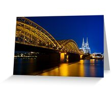 Cologne Cathedral on the Rhine - Germany Greeting Card