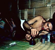 Opium addict and girl by John Spies
