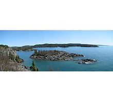Campbells point into Lake Superior - Pukaskwa National Park Photographic Print