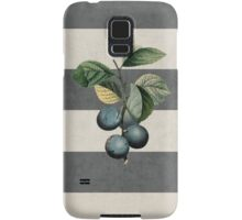 botanical stripes - plums Samsung Galaxy Case/Skin