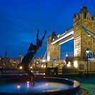 Tower Bridge and the Dolphin Rider - London, England by Yen Baet
