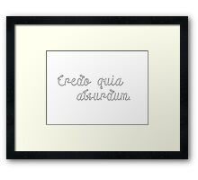 Latin Sayings Geek Cool Smart Clever  Framed Print