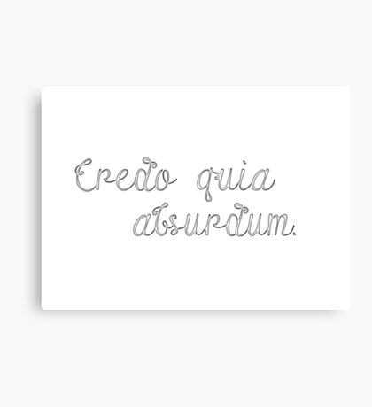 Latin Sayings Geek Cool Smart Clever  Canvas Print
