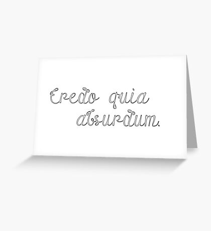 Latin Sayings Geek Cool Smart Clever  Greeting Card