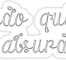 Latin Sayings Geek Cool Smart Clever  Sticker