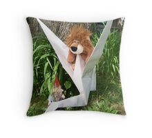 Dr. Crane, Mr. Leo, and Prof. Travel having fun in the back yard. Throw Pillow