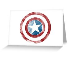 Watercolor Captain America Greeting Card