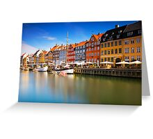 Nyhavn Harbour - Copenhagen, Denmark Greeting Card