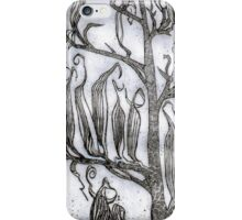 Etching : Flax Pods Gothic iPhone Case/Skin