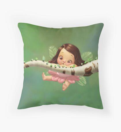 Cute baby fairy Throw Pillow