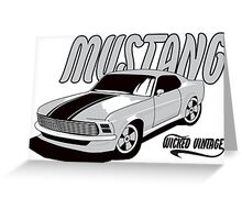 1970 Mustang Greeting Card