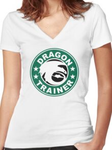 Dragon trainer Women's Fitted V-Neck T-Shirt