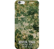 Denton Texas Map iPhone Case/Skin