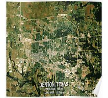 Denton Texas Map Poster