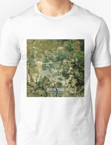 Denton Texas Map T-Shirt