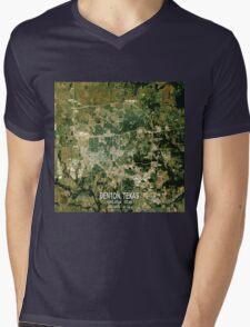 Denton Texas Map Mens V-Neck T-Shirt