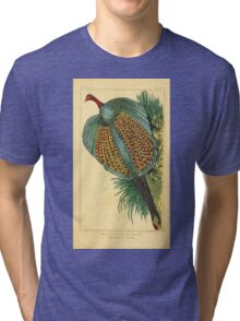 The Animal Kingdom by Georges Cuvier, PA Latreille, and Henry McMurtrie 1834 720 - Aves Avians Birds Tri-blend T-Shirt