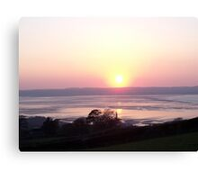 Sunset at Llanfairfechan. Canvas Print