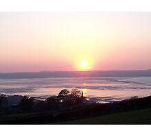 Sunset at Llanfairfechan. Photographic Print
