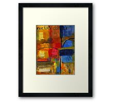The JOY of Planning an Abstract Painting at Starbucks Framed Print