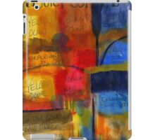 The JOY of Planning an Abstract Painting at Starbucks iPad Case/Skin