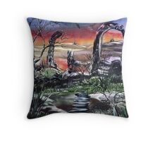The Dragon of Nevermore Throw Pillow