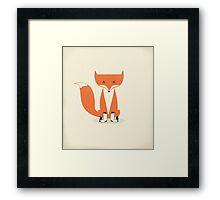 A Fox With Socks Framed Print