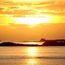 Sunset over Osprey Cay by Leon Heyns