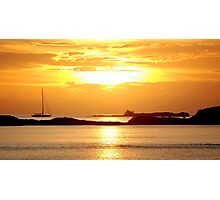 Sunset over Osprey Cay Photographic Print
