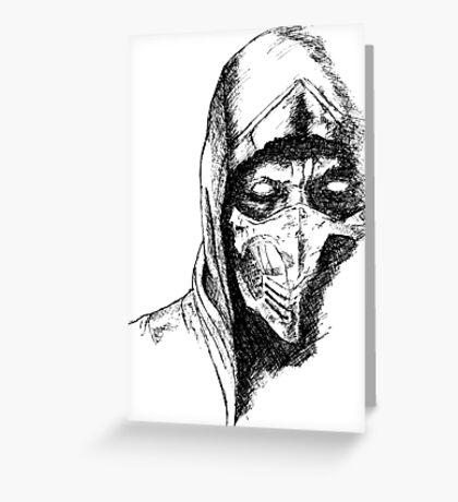 Scorpion Mortal Kombat X Greeting Card