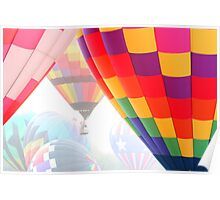 Balloons in the Mist Poster