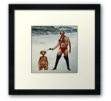 Zardoz is pleased Framed Print
