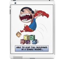 Look its a Bird! - Leaping tall buildings iPad Case/Skin