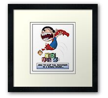 Look its a Bird! - Leaping tall buildings Framed Print