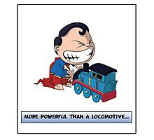 Look its a Bird! - More powerful than a locomotive Photographic Print