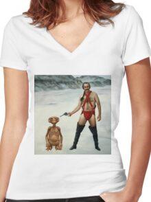 Zardoz is pleased Women's Fitted V-Neck T-Shirt