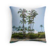 palm breeze series Throw Pillow