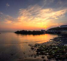 Portpatrick Harbour at Sunset by derekbeattie
