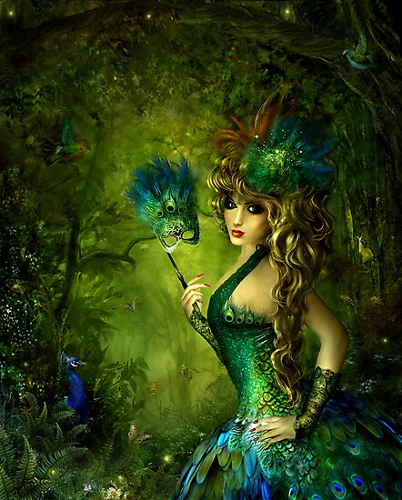 Peacock lady by Lilla Márton