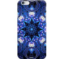 """On the Edge of Bliss"" (Blue Tones) - Geometric Abstract Mandala  iPhone Case/Skin"