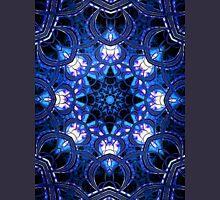 """On the Edge of Bliss"" (Blue Tones) - Geometric Abstract Mandala  T-Shirt"
